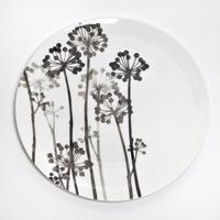 hakuji 白磁大皿 -八つ手 |White Porcelain plate L-Japanese Aralia