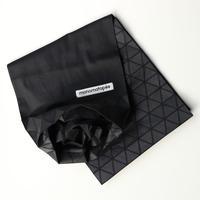marumasu/折り紙スカーフ-ORIGAMI SCARF monomatopee/black