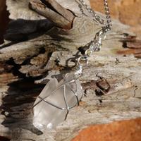 ツインクリスタル ヒマラヤ水晶ネックレス
