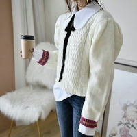 カラーラインバルーンスリーブセーター