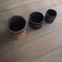 入れ子の漆桶