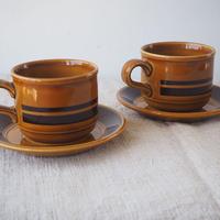 カップ&ソーサー2客セット(Kiln Craft)