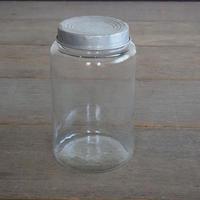 円柱のガラス瓶