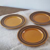 イギリス製ケーキ皿3枚セット(Kiln Craft)