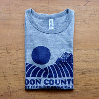 FULL MOON T-Shirts Gray×Navy S