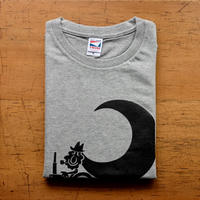 TRACTOR T-Shirts Gray×Black M