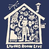 LIVING ROOM LIVE T-Shirts Navy×Ivory  S