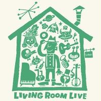 LIVING ROOM LIVE T-Shirts Ivory×Green  L