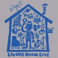 LIVING ROOM LIVE T-Shirts Glay×Blue  L