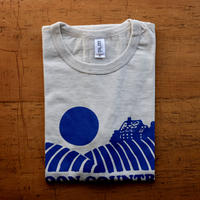 FULL MOON T-Shirts Oatmeal×Blue M