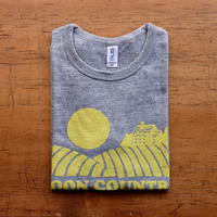 FULL MOON  T-Shirts Gray×Lemon XS