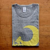 TRACTOR T-Shirts Gray×Lemon M