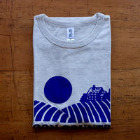 FULL MOON T-Shirts Oatmeal×Blue Purple XL