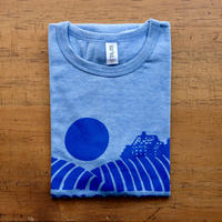 FULL MOON T-Shirts Light Blue×Blue L