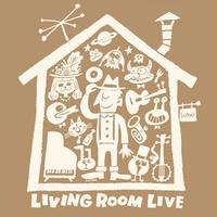 LIVING ROOM LIVE T-Shirts Brown×Ivory  L