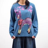 バンビ柄ロングスリーブTシャツ【ScoLar】(40327052)