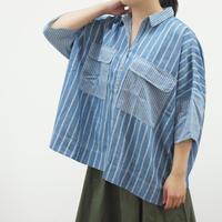 5分袖巾広シャツ(40279579)