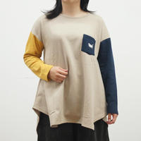 たぬきネコ刺繍イレヘムカットソー(40329328)