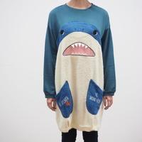 サメパイル×裏毛切替チュニック(40329005)