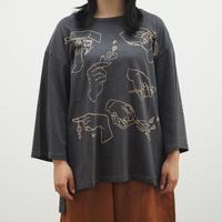 手描きハンド柄プリントTシャツ(40329222)