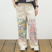 プリントフィードサックパンツ【LIME,INC】40148608