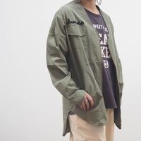 ノーカラー刺繍ZIPシャツジャケット(41138603)【LIME,INC】