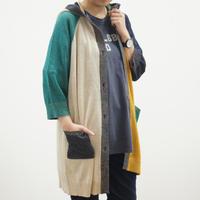 フード付き綿麻ロングカーデ(40269253)