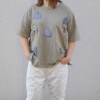 おうちパッチワーク刺繍TEEシャツ【Emago】(30126250)