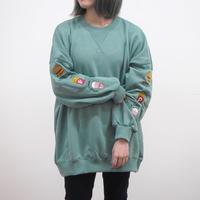 袖ファストフード刺繍BIGトレーナー(40420018)
