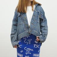 背中プリーツGジャン【 bit blue】(39334402)