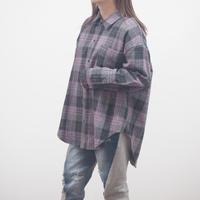 起毛チェックロングスリーブシャツ(40479223)