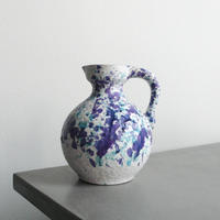 Cold colours ceramic vase