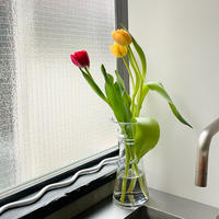 ラッパのクリア花瓶