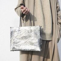 手もみ銀箔 shopper bag