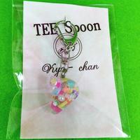 TEE Spoon レジンキーホルダー(パステル星)Kyo-chanコラボ