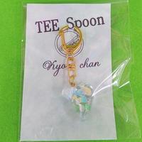 TEE Spoon レジンキーホルダー(パステル音符B)Kyo-chanコラボ