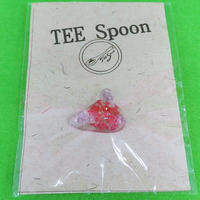 TEE Spoon レジンピンバッチ(花・赤)