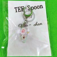 TEE Spoon レジンキーホルダー(花・白)Kyo-chanコラボ