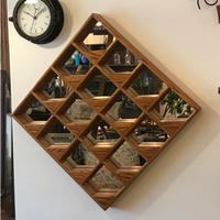 Vintage Wood Wall Mirror