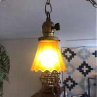 Vintage Amber Glass Lamp
