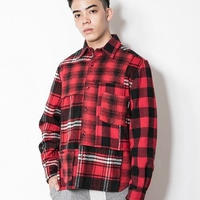 SUGARGLIDER Crazy Heavy Shirts [RED CHECK]