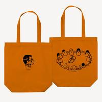 【Ryohei Kaneda】シルクスクリーン 手刷りトート  Bタイプ(オレンジ)