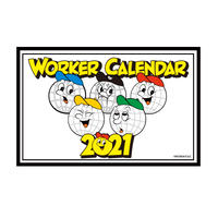 【WORKAHOLIC】2021 WORKER CALENDAR & STICKER SET