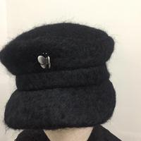 モヘアウールキャスケット  ブラック