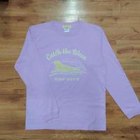 【WEB限定】ロングTシャツ(ラッコ Catch the Wave)- ライトパープル