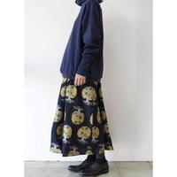 tutaee 傳 SKAAAAt-JA ジャガードスカート #ベージュ、ネイビー 【送料無料】