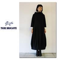 Tigre Brocante ティグルブロカンテ ツイル起毛トールネックワンピース ♯カーキ、ネイビー 【送料無料】