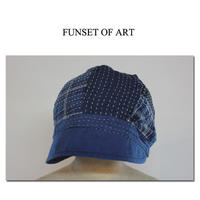 FUNSET OF ART ファンセットオブアート IDG刺し子ミックスパッチホームズCAP ♯インディゴ 【送料無料】