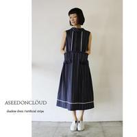ASEEDONCLOUD アシードンクラウド shadow dress #artificial stripe 【送料無料】