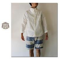 FUNSET OF ART ファンセットオブアート ホワイトツイルノルマンシャツ #ホワイト【送料無料】